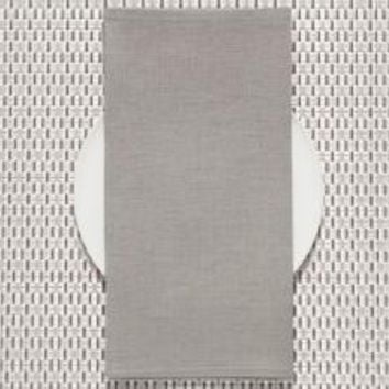 CHILEWICH Single-Sided Linen Napkins-Set of 8 | Pale Grey