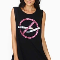 Nasty Gal No Smoking Muscle Tee