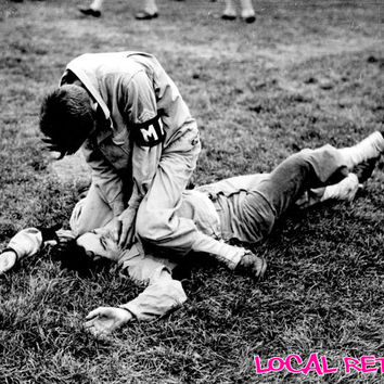 WWII Photography Fine Art - Black & White Picture - Hand to Hand Combat - Gifts for Guys