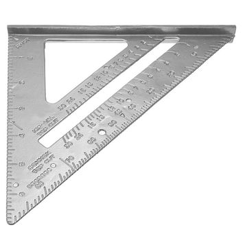 ASLT 18 * 18cm Aluminum Alloy Speed Square Protractor Miter Framing Measurement Carpenter Measurement Tool for angling roofing