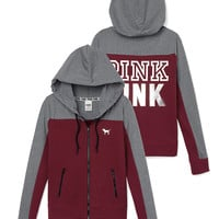 Perfect Funnel Neck Full-Zip Hoodie - PINK - Victoria's Secret
