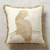 Animal Applique Pillow by Anthropologie
