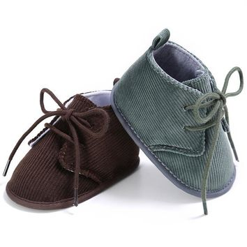 Infant and Toddler Classic Corduroy Shoes