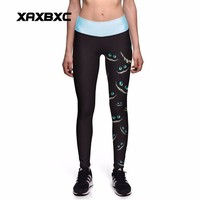 DCCKL3Z NEW 0014 Sexy Girl Alice in Wonderland Cheshire Cat Toothless Prints High Waist Workout Fitness Women Leggings Pants Plus Size