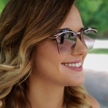 Afternoon Glow Sunglasses - Rose Gold