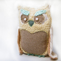Pastel owl plush soft toy