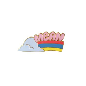 Mean Rainbow Enamel Pin