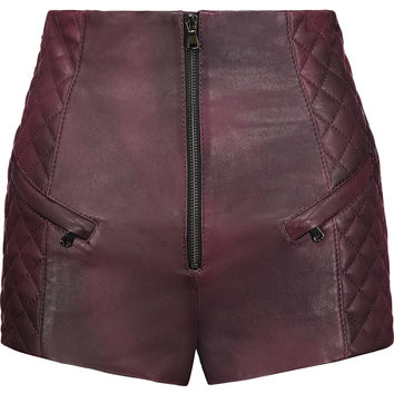 Quilted leather shorts | Pierre Balmain | US | THE OUTNET