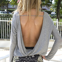 For Everyday Backless Top - Grey