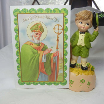St. Patrick's Day Card (Handmade) St. Patty's Day Greeting, Friendship Card, Card for Encouragement Get Well