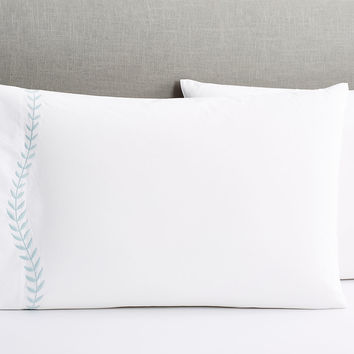 Matouk, Jasmine Standard Pillowcases, Opal, Set of 2, Pillow Cases
