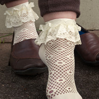 Sock Dreams - Daisy Dot Net Lace Ruffle Anklets
