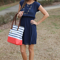 Race For Lace Dress, Navy