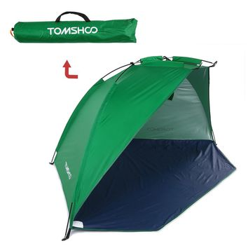 TOMSHOO Outdoor Beach Tent Shelter 2 Persons Summer UV Protecting Tent Sports Sunshade Camping Fishing Tent for Picnic Park