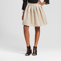 Women's Gold Jacquard Pintucked Skirt - ISANI for Target - Gold/Ivory