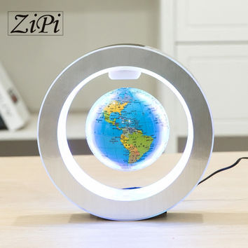 New Levitation Floating Globe Rotating Magnetic Mysteriously Suspended In Air World Map Home Decoration Crafts Holiday Gifts