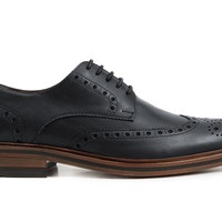 Carson Wingtips - Black Leather