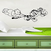 Winnie The Pooh Wall Decal Vinyl Sticker Decals Classic Winnie the Pooh Tigger Nursery Baby Room Kids Bedroom Decor C590