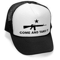 COME AND TAKE IT - 2nd amendment gun rights Mesh Trucker Cap Hat, Black