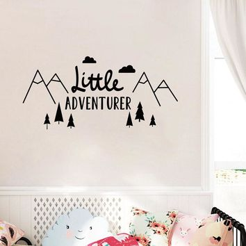 Little Adventurer Home Wall Decal Sticker , Nordic Style Adventure Vinyl Wall Stickers For Kids Room Baby Room Nursery Wallpaper