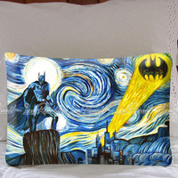 Batman Starry Night Decorative Pillow Covers