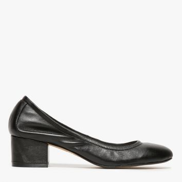 Jeffrey Campbell / Bitsie Low in Black Leather