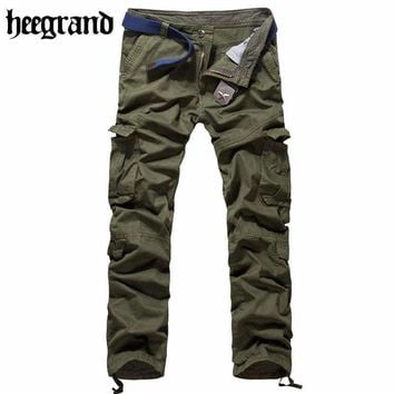 Hee Grand Pants Men'S Cargo Pants Military Style Casual Hip Pop Trousers Military Pantalon Homme Mkx567