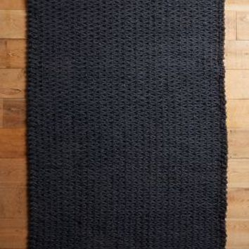 Fisherman's Rug by Anthropologie in Black Size: