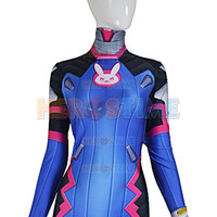 D VA Costume Female/Women/Girls/Lady Halloween Cosplay dva Zentai Catsuit Custom Lycra Spandex Digital Print D VA Bodysuit