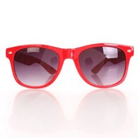 Red Plastic Finish Tinted Lens Side Metal Accent Sunglasses @ Amiclubwear Sunglasses Online Store: Women's Sunglasses,Sunglasses,Shades,Aviator,Celebrity,Designer,Driving,Novelty,Vintage,Oversized,Sport and Bi-focal Sunglasses