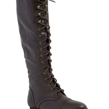 Lace-Up 2 It Faux Leather Boots GoJane.com