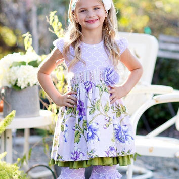 Giggle Moon True Vine Maddison with Ruffle Capri Pants