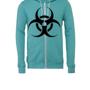 Biohazard Caution - Unisex Full-Zip Hooded Sweatshirt