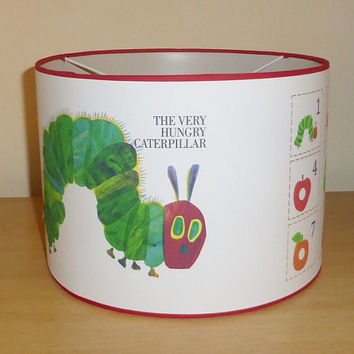 Handcrafted The very hungry caterpillar ceiling lampshade / lamp shade ~ Boys / girls bedroom