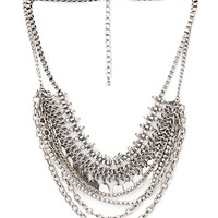 FOREVER 21 Layered Chain & Coin Necklace Burn.S One