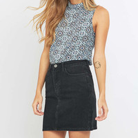 Pins & Needles Geo Print Mock Neck Sleeveless Blouse - Urban Outfitters