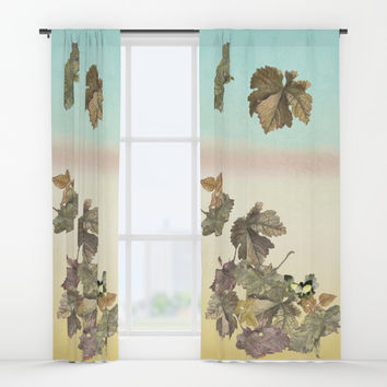 Autumn leaves.... Window Curtains by anipani