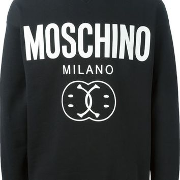 Moschino Smiley And Logo Print Sweatshirt - Boutique Mantovani - Farfetch.com