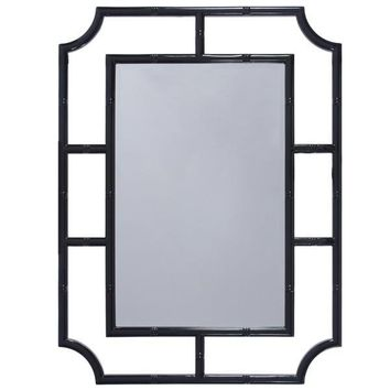 Marian Mirror in Black Lacquer