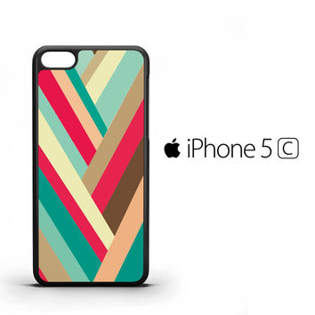 colorful geometric peach Z1705 iPhone 5C Case