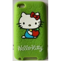 Koolshop Hello Kitty Green Silicone Full Cover Case for iPod Touch iTouch 4 4g 4th generation