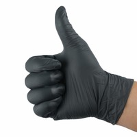 10pcs Disposable Black  Gloves Medical Tattoo Cleaning Supplies Household  Tattoo Accessories Permanent Makesup