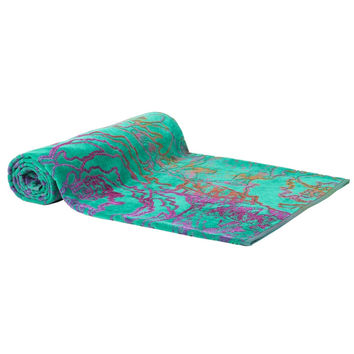 Green Magic Beach Towel