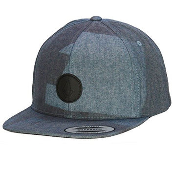 Volcom Stormy Blue Quarter Fabric Snapback Cap (Default , Blue)