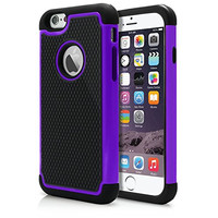 """iPhone 6 & 6S Plus Case, Laxier(TM) Premium Ultra Thin Shock Proof Protective Cover Hard Shell Plastic Rubber Silicone Case For Apple iPhone6 / iPhone6S Plus 5.5 inches (5.5"""")(Purple)"""