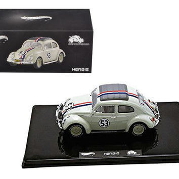 VW Volkswagen Beetle #53 Love Bug Herbie Goes To Monte Carlo Elite Edition 1-43 Diecast Model Car by Hotwheels