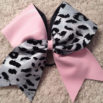 Pink & Leopard Tik Tok Cheer Bow