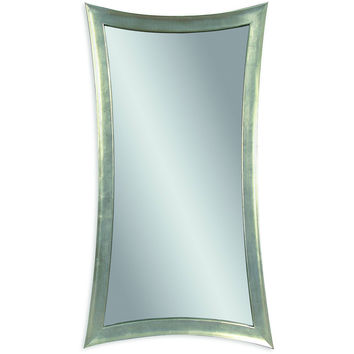 "Bassett Mirror Hour-Glass Wall Mirror Silver Leaf 36"" x 48"" - M1762EC"