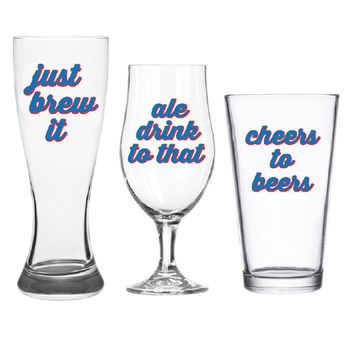 Just Brew It Beer Glass Set