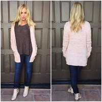 Dusty Pink Soft Serve Cardigan Sweater